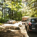 Typical campsite at Panorama Point Campground.- Baker Lake, Panorama Point Campground