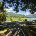 Day use picnic area at Panorama Point Campground.- Baker Lake, Panorama Point Campground