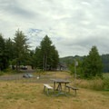 Picnic and parking area for the Beaver Creek Welcome Center.- Brian Booth State Park