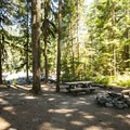 Typical campsite at Boulder Creek Campground.- Boulder Creek Campground