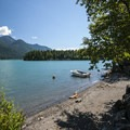 View of Baker Lake from Lower Sandy Beach.- Baker Lake, Lower Sandy Beach + Campsites