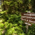 Sign for Bayview North Group Campsite.- Baker Lake, Bayview North Group Campsite
