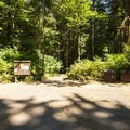 Parking area for Bayview South Group Campsite.- Baker Lake, Bayview South Group Campsite
