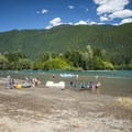 Swimming area at Horseshoe Cove Campground.- Baker Lake, Horseshoe Cove Campground