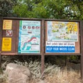 Signage by the creek is plentiful and informative.- Fossil Creek