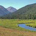 The Stillwater's open valley.- Christmas Meadows Campground