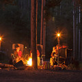 Enjoying a great campsite.- Christmas Meadows Campground