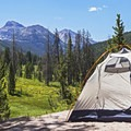 Ostler Peak (12,724') and Spread-Eagle Peak (12,546') in the distance.- Christmas Meadows Campground