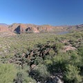 The approach into Canyon Lake.- Apache Trail Scenic Byway