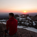 Watching the sun set from the peak.- Lassen Peak