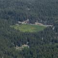 Kings Creek Meadow can be seen in the southeast.- Lassen Peak