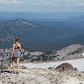 Hiking around the caldera.- Lassen Peak