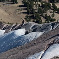 Looking down at the switchbacks from the peak.- Lassen Peak