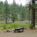 Typical site at Granite Flat Campground.- Granite Flat Campground