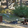 Site at the foot of the mountain.- Crystal Springs Campground