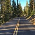 Enjoying the McKenzie Pass Scenic Byway without cars.- McKenzie Pass Scenic Byway