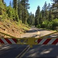 East snow gate is closed for the winter.- McKenzie Pass Scenic Byway