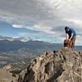 Summit of East Twin Sister, 11,428 feet.- Twin Sisters Peak Hike