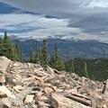 Talus field crossing at 11,000 feet- Twin Sisters Peak Hike