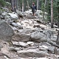 Trail conditions in the first mile can get a little rocky.- Twin Sisters Peak Hike