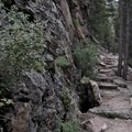 Sections of rocky terrain on the Twin Sisters Trail.- Twin Sisters Peak Hike