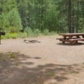 Typical campsite at Goose Meadows Campground.- Goose Meadows Campground