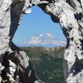 Mount Rainier (14,411 ft).- Mount Margaret Backcountry Lakes
