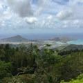 The view of Koko Head and Koko Crater to the south.- Kuli'ou'ou Ridge
