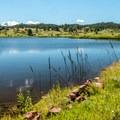 North Crow Reservoir is beautiful and quiet.- North Crow Reservoir Loop