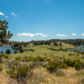 View up into the peninsula that nearly bisects the lake.- North Crow Reservoir Loop
