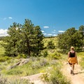 Most of the trail is through open meadows.- Lariat Trail + Stone Temple Circuit