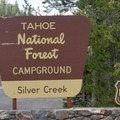 The entrance to Silver Creek Campground.- Silver Creek Campground