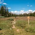 Start of the trail near Brooklyn Lake.- Twin Lakes Hike via Sheep Lake Trail