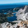 Looking north from the summit.- Medicine Bow Peak via Lewis Lake Trailhead