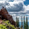Sitting on top of the world.- Rabbit Ears Peak