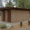 Bathrooms at Nevada Beach Campground.- Nevada Beach Campground