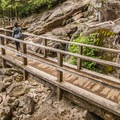 A well constructed boardwalk along the Sea to Summit Trail.- Sea to Summit Hike
