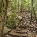 Sections of the trail are steep and rocky.- Sea to Summit Hike