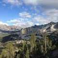 Crystal Crag (10,377') and Duck Lake Peak (12,077').- Mammoth Crest Trail