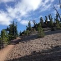 Sandy pumice trail on the way to Red Cone.- Mammoth Crest Trail