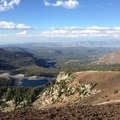 Mammoth Lakes Basin from the Mammoth Crest Trail.- Mammoth Crest Trail