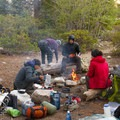 Camp breakfast.- John Muir Trail Section 2