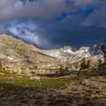 Selden Pass (10,870 feet) lies beyond Marie Lake.- John Muir Trail Section 2
