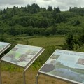 Interpretive signs in front of the Beaver Creek Welcome Center.- Brian Booth State Park