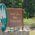 Main entrance. Unaffiliated Silver Lake Campground is across the street.- Silver Lake West Campground