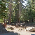 Typical site at Silver Lake West Campground.- Silver Lake West Campground