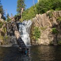 The area is full of great jumping spots. Get creative!- Hatchet Falls / Lion Slide Falls
