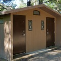 Bathrooms at Kit Carson Campground.- Kit Carson Campground