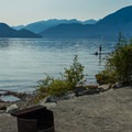 Most sites have beach access.- Porteau Cove Provincial Campground