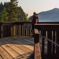 Viewpoint at the end of the campground.- Porteau Cove Provincial Campground